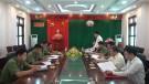 Đoàn kiểm tra công tác bí mật nhà nước làm việc tại huyện Tân Sơn