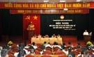 Các ứng cử viên  trình bày dự kiến chương trình hành động trước cử tri huyện Tân Sơn