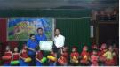 Lãnh đạo huyện dự và tặng quà tết Trung thu tại một số xã trong huyện