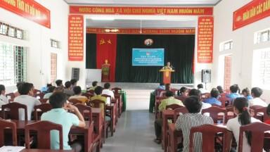 Tập huấn chuyển giao KHKT tham gia xây dựng NTM và tuyên truyền PCCR