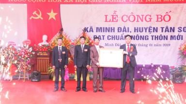 Xã Minh Đài, huyện Tân Sơn đón chuẩn nông thôn mới