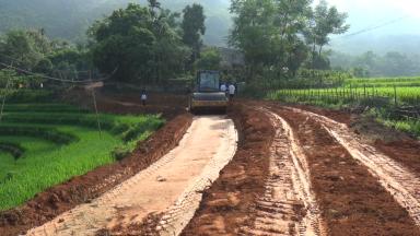 Khu 1 xã Tân Phú với phong trào hiến đất làm đường xây dựng NTM