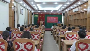 Tân Sơn: Gặp mặt cán bộ lãnh đạo nữ nhân ngày Quốc tế phụ nữ 8-3