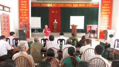 Tân Sơn: Tổ chức hội nghị truyền thông về chăm sóc sức khỏe cho nhân dân và kiểm soát dịch bệnh
