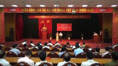 Tân Sơn: Hội thi Bí thư chi bộ giỏi cấp huyện năm 2018