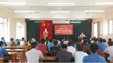 Tân Sơn: Bồi dưỡng LLCT cho cán bộ Đoàn ở cơ sở năm 2018