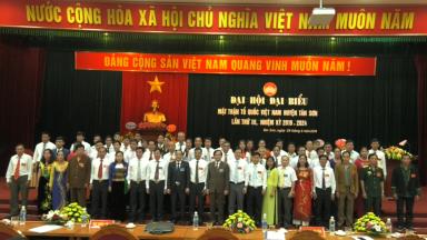 Đại hội đại biểu MTTQ Việt Nam huyện Tân Sơn khóa III.