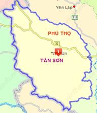 Bản đồ HC huyện Tam Nông